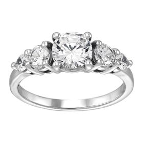 Engagement Ring with Cubic Zirconias
