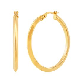 30 mm Knife Edge Hoop Earrings