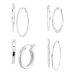 Endless Circle Hoop Earring Set