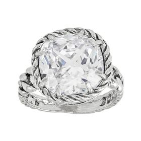Braided Brilliance Ring