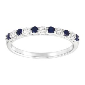 Blue & White Sapphire Band Ring