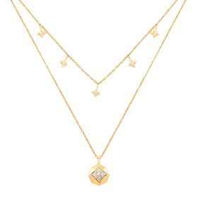 1/5 ct Diamond Double Chain Pendant