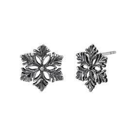 Dark Snowflake Stud Earrings