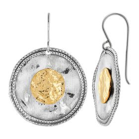 Two Views Disc Earrings