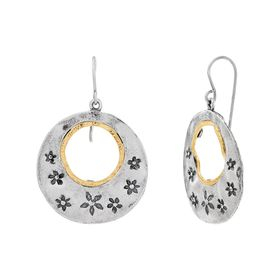 Floral Whirlwind Circle Earrings