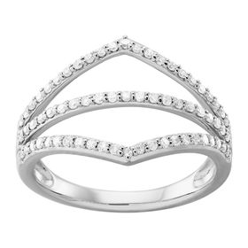 1/3 ct Diamond Chevron Ring