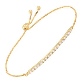 1/2 ct Diamond Bolo Bar Bracelet