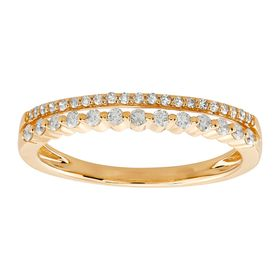 1/4 ct Diamond Double Band Ring