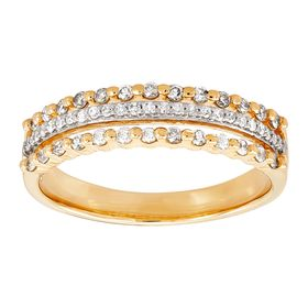1/3 ct Diamond Triple Row Band Ring