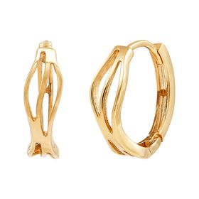 Twirling Hoop Earrings