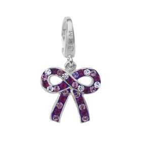Bow Charm with Crystal