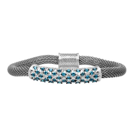 1 1/2 ct Swiss Blue Topaz Bracelet