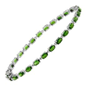 6 ct Chrome Diopside Tennis Bracelet, 8""