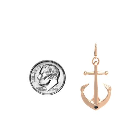 Anchor Gem Charm