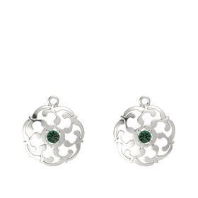 14K White Gold Earrings with Alexandrite