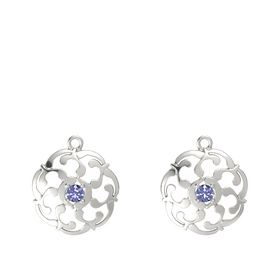 14K White Gold Earring with Tanzanite