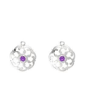 Sterling Silver Earrings with Amethyst
