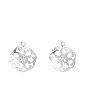Sterling Silver Earrings with Rock Crystal