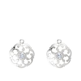 Sterling Silver Earrings with Diamond