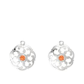 Sterling Silver Earrings with Fire Opal