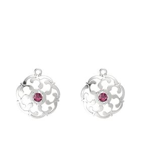 Sterling Silver Earring with Rhodolite Garnet