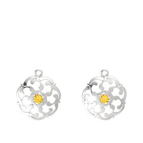 Sterling Silver Earrings with Citrine