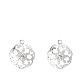 Sterling Silver Earrings with White Sapphire