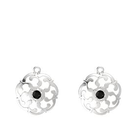 Sterling Silver Earrings with Black Onyx