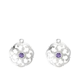 Sterling Silver Earrings with Iolite