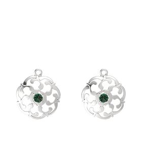 Sterling Silver Earrings with Alexandrite