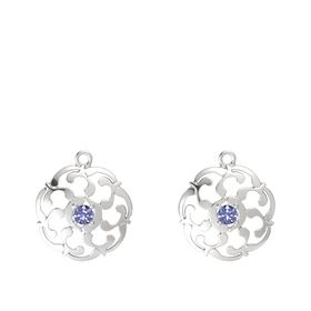 Sterling Silver Earring with Tanzanite