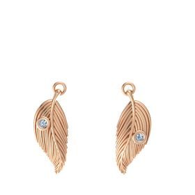 14K Rose Gold Earrings with Blue Topaz