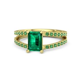 Emerald Emerald 14K Yellow Gold Ring with Emerald
