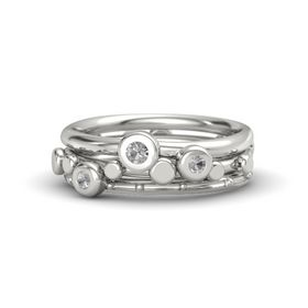 14K White Gold Ring with Rock Crystal
