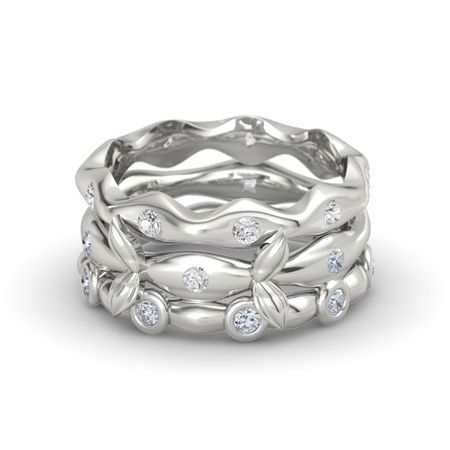 Organic Stacking Ring Set