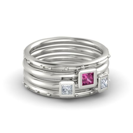 Princess Stacking Ring Set