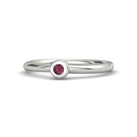 Round Solitaire Stack Ring