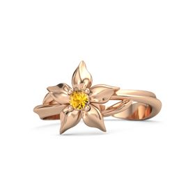 14K Rose Gold Ring with Citrine