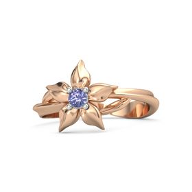 14K Rose Gold Ring with Tanzanite