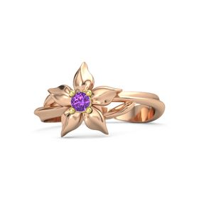 14K Rose Gold Ring with Amethyst