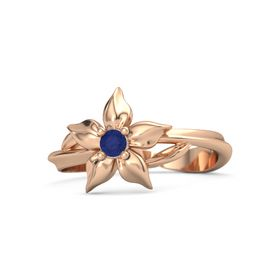 14K Rose Gold Ring with Sapphire