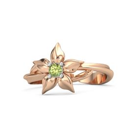 14K Rose Gold Ring with Peridot