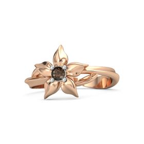 14K Rose Gold Ring with Smoky Quartz