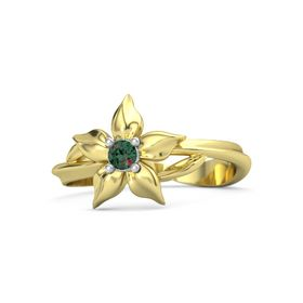 14K Yellow Gold Ring with Alexandrite