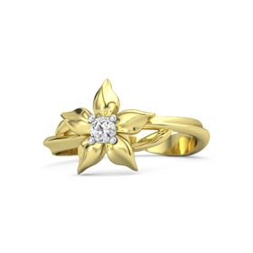 14K Yellow Gold Ring with White Sapphire