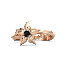 18K Rose Gold Ring with Black Onyx