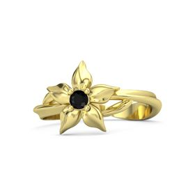 18K Yellow Gold Ring with Black Onyx