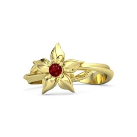 18K Yellow Gold Ring with Ruby