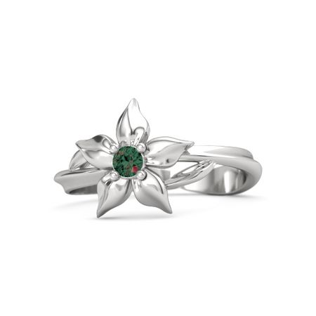 Sterling silver ring with alexandrite star flower ring gemvara star flower ring mightylinksfo