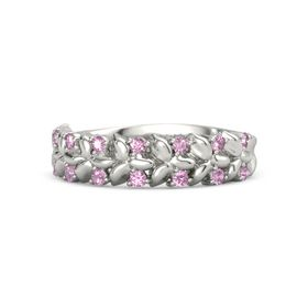 Platinum Ring with Pink Sapphire and Pink Tourmaline